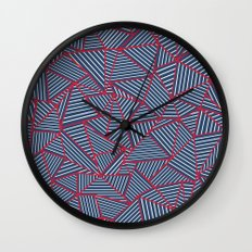 Ab Out Navy Red Wall Clock