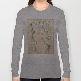 Vintage Map of Lake Champlain (1874) Long Sleeve T-shirt