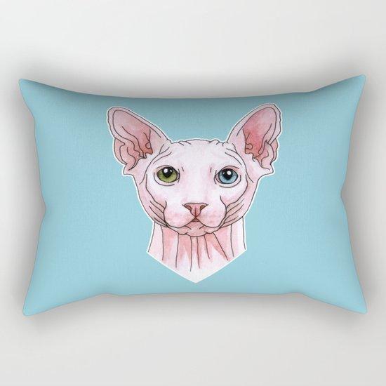 Sphynx cat portrait Rectangular Pillow