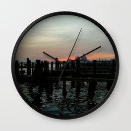 Winter Sunrise In Venice Wall Clock