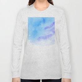 Blue ink in Water. Blue and Purple watercolour. Long Sleeve T-shirt