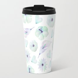 Blush lavender green watercolor elegant floral pattern Travel Mug