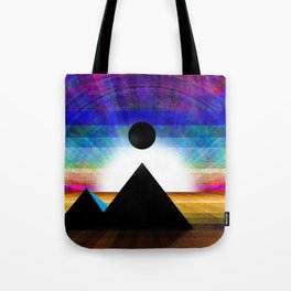 An Unknown Visitation of the Pyramids in a Land of Confusion Tote Bag