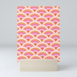 Rainbow connection - tangerine Mini Art Print