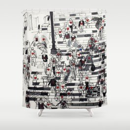 Hearts on the Move Shower Curtain