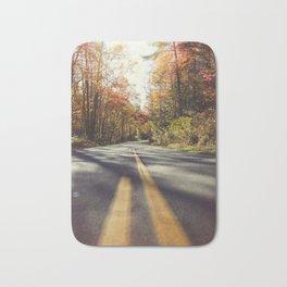 Long mountain road in autumn Bath Mat