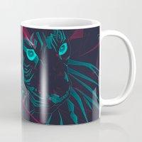 zodiac Mugs featuring Zodiac Tiger by Schwebewesen • Romina Lutz