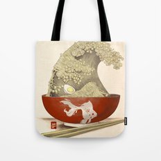The Great Ramen Wave re-drawn Tote Bag