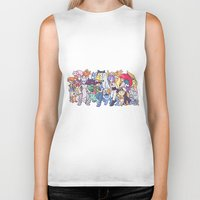 anime Biker Tanks featuring Illustration anime by Jaimie Hutton