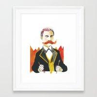 nietzsche Framed Art Prints featuring Friedrich Nietzsche by Lilah Ravinskij