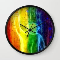queer Wall Clocks featuring This Queer Life by Dandy Jon