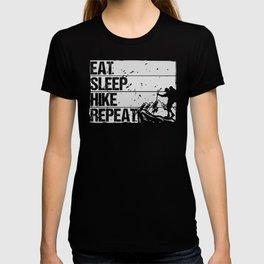 Eat Sleep Hike Repeat wh T-shirt