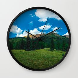 Summer in the Mountains Wall Clock