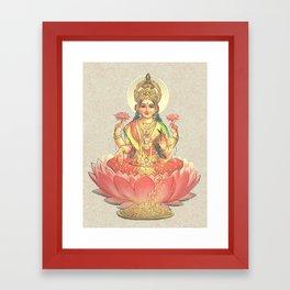 Lakshmi, Goddess of Love (Coral) Framed Art Print