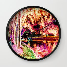 Summer Fishing Invert Wall Clock