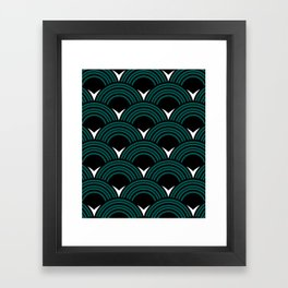 Art Deco Shell Print Framed Art Print
