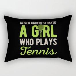 Funny Tennis Girl Rectangular Pillow