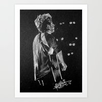 niall Art Prints featuring Niall by Drawpassionn