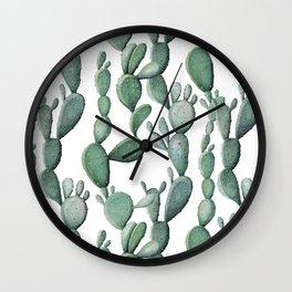 Cactus Bunch Green Wall Clock