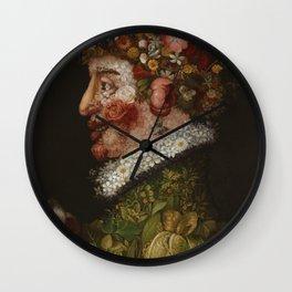 "Giuseppe Arcimboldo ""Four seasons - Spring"" Wall Clock"