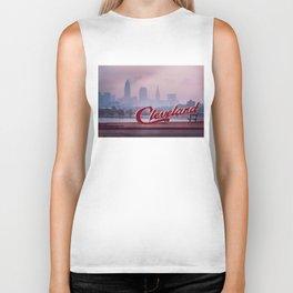 Homesick - Cleveland Skyline Biker Tank