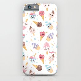 Cute Gelato [White Background] iPhone Case
