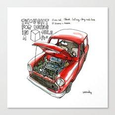 Mini Cooper Classic in Red Canvas Print