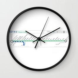 Twin Cities METRO Green Line Map Wall Clock