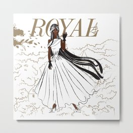Jewel Royal Metal Print