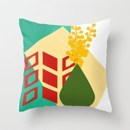 Abstract Collage Throw Pillow