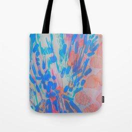 Blue Petal Surge Tote Bag