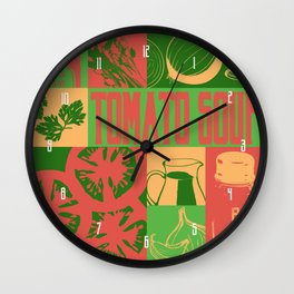 Tomato Soup Wall Clock