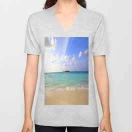 Maldives Beach Unisex V-Neck
