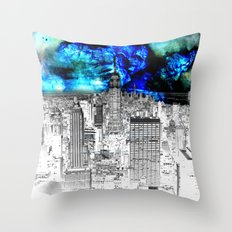 New York Nebula  Throw Pillow