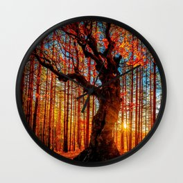 Majestic woods Wall Clock