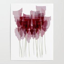 Dark Red Goblet Flower Bunch Poster