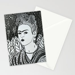 Frida Kahlo, Black&White, Minimalistic Art Stationery Cards