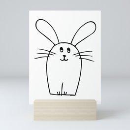 wonky bunny doodle Mini Art Print