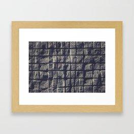 Blue Granite Wall Sawn Squares Framed Art Print