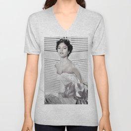Dorothy Dandridge, Hollywood Starlet black and white photograph / black and white photography Unisex V-Neck