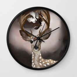 Deer's Balance  Wall Clock