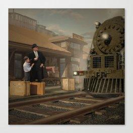 Trip by Rail Canvas Print