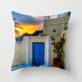 Santorini 27 Throw Pillow
