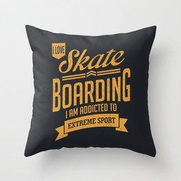 Skateboarding - Extreme Sport Gift Throw Pillow