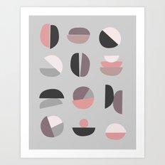 Pastel Geometry 4 Art Print