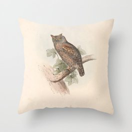Scops-eared Owl9 Throw Pillow