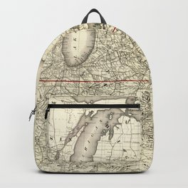 Map of the Continental Railroad Route (1873) Backpack