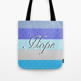 HOPE on Blue Tote Bag