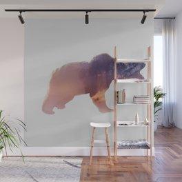Double Exposure bear Wall Mural