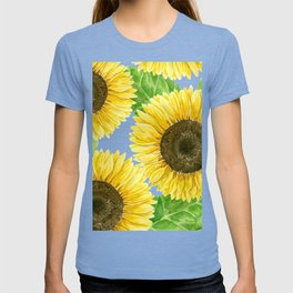 Sunflowers watercolor T-shirt